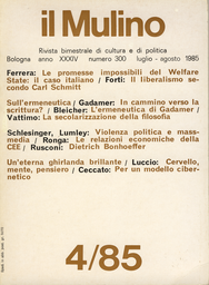 Copertina del fascicolo dell'articolo Per un modello cibernetico della vita mentale
