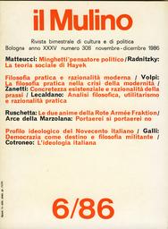Copertina del fascicolo dell'articolo Analisi filosofica, utilitarismo e razionalità pratica