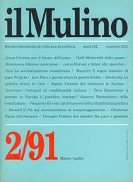 Copertina del fascicolo dell'articolo Politica dei cattolici fra pace e giustizia