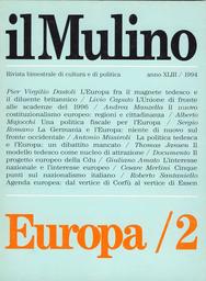 Copertina del fascicolo dell'articolo Un centro di attrazione. A proposito del progetto europeo della Cdu