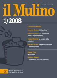 Copertina del fascicolo dell'articolo Partiti politici e forme di governo nell'Unione europea
