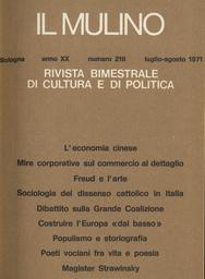 Copertina del fascicolo dell'articolo Pretese corporativistiche ed esigenze di sviluppo nella programmazione del commercio