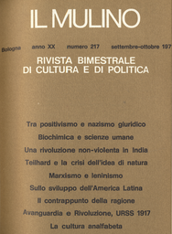 Copertina del fascicolo dell'articolo Teilhard de Chardin: la crisi dell'idea di natura