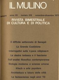 Copertina del fascicolo dell'articolo La biologia moderna e le scienze umane