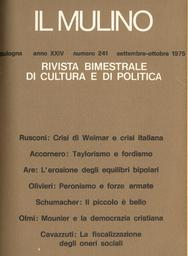 Copertina del fascicolo dell'articolo L'erosione degli equilibri bipolari e gli effetti sulla distensione