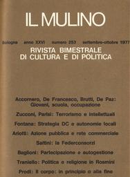 Copertina del fascicolo dell'articolo Strategia politica della DC e crescita delle autonomie locali