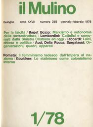 Copertina del fascicolo dell'articolo Sindacato: operatori ed apparato