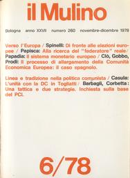 Copertina del fascicolo dell'articolo Una tattica e due strategie. Inchiesta sulla base del PCI