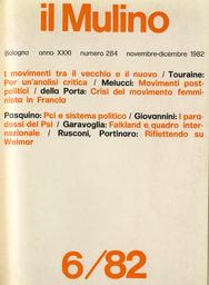 Copertina del fascicolo dell'articolo Verso movimenti post-politici